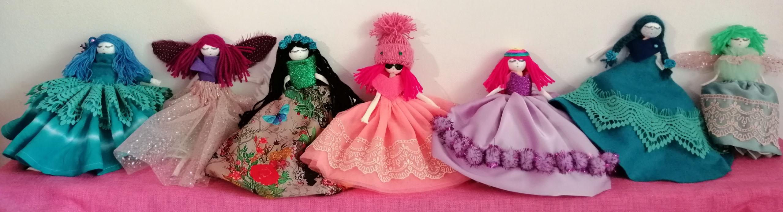 7-papusi-handmade-dolls-lucrate-manual-colectie