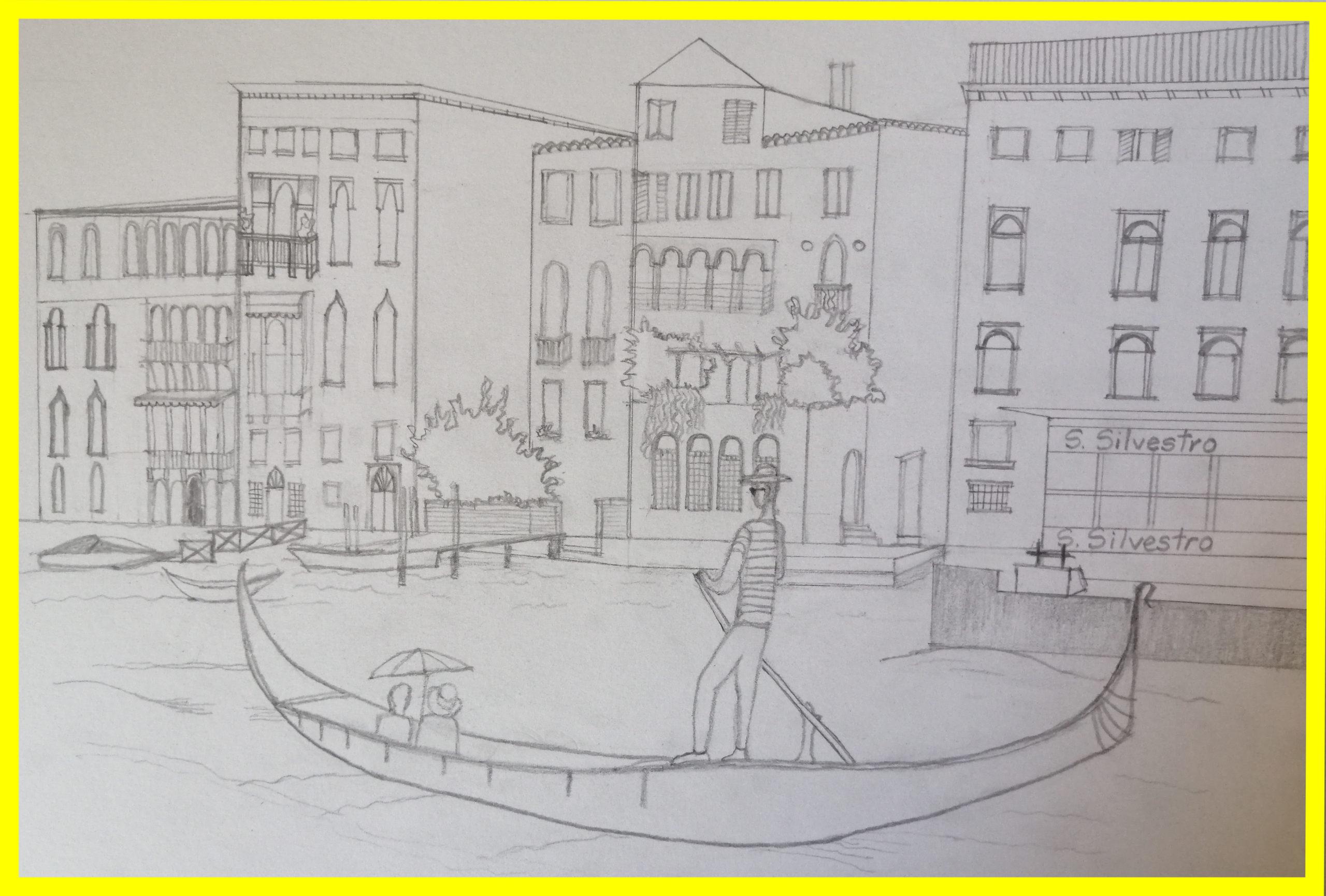 schita tablou licheni La Venetia